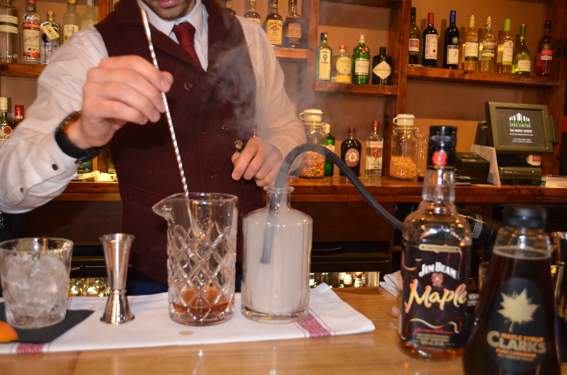 Using a smoking machine is an increasingly popular way to make a mixed drink.