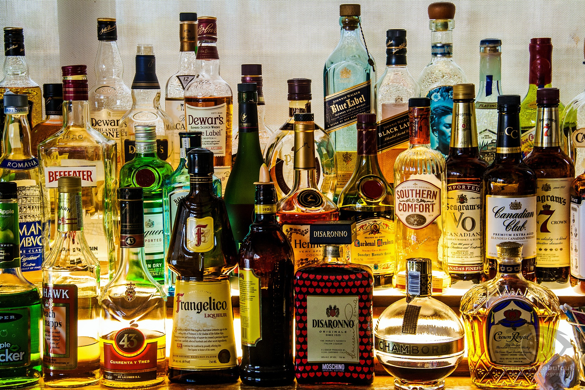 A few types of liquor are the base ingredient for many cocktails.
